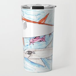 Megamouth Shark & Queensland Sawfish Travel Mug