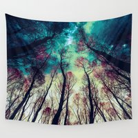 nordic Wall Tapestries featuring NORDIC LIGHTS by RIZA PEKER