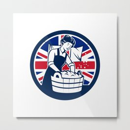 British Laundry Union Jack Flag Icon Metal Print