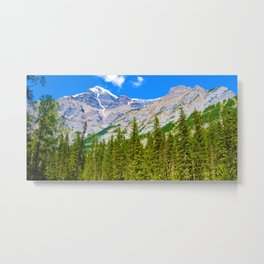 Mt. Robson and the Robson River in British Columbia, Canada Metal Print
