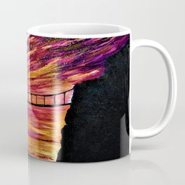 CARRICK-A-REDE SILHOUETTE - Mixed Media Painting Stretched Canvas Coffee Mug