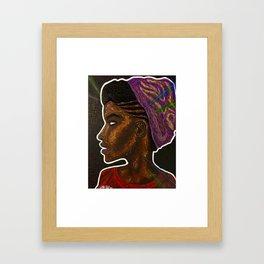 SHE (blk) Framed Art Print