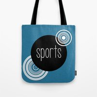 sports Tote Bags featuring SPORTS by VIAINA DESIGN
