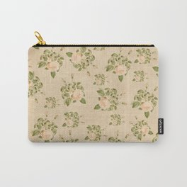 Floral Vintage Carry-All Pouch