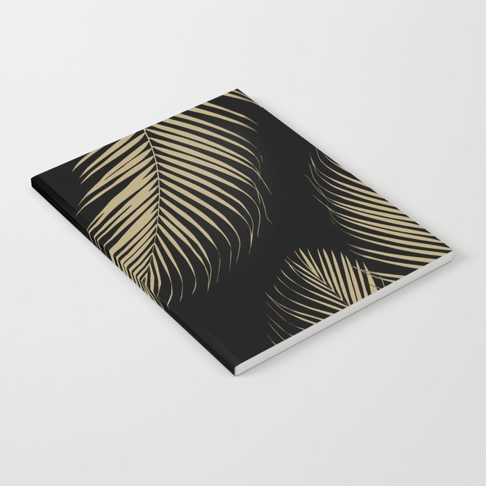 Palm Leaves - Gold Cali Vibes #4 #tropical #decor #art #society6 Notebook