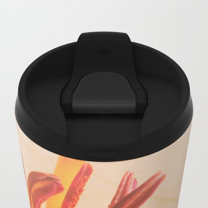 orange lilie Metal Travel Mug