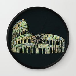 Colosseum Collage Wall Clock