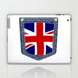 Union Jack Denim Pocket Laptop & iPad Skin