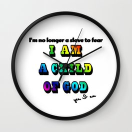 I am a Child of God-Style 2 Graphic Design Wall Clock