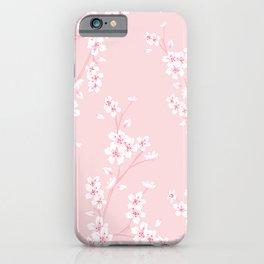Sakura (Cherry Blossom) on Baby Pink. Japanese design iPhone Case