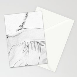 Head Shoulder and Hands Stationery Cards