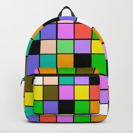 Checker Board Square Pattern Backpack