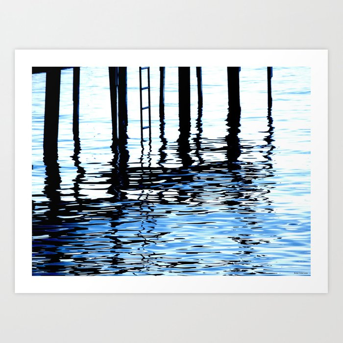 """Dock Blue"" Art Print"