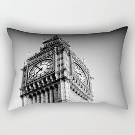 Ben looms in black and white, too. Rectangular Pillow