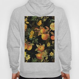 Vintage & Shabby Chic - Midnight Golden Apples Garden Hoody