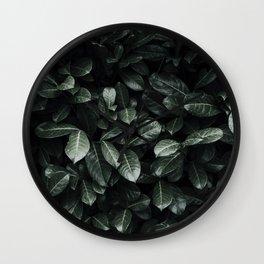 Lush Leaf Life Wall Clock