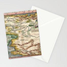 Vintage Map - Girolamo Ruscelli - Moschovia Nvova Tavola / New Chart of Muscovy) (1574) Stationery Cards