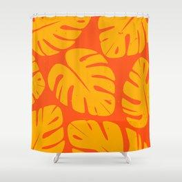 Monstera Leaf Print 1 Shower Curtain