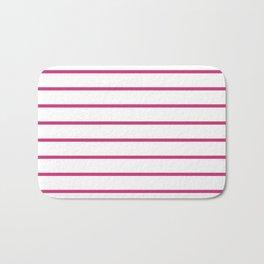 Hot Pink Breton Stripes Bath Mat