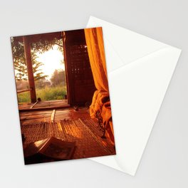 Hut on the river Stationery Cards