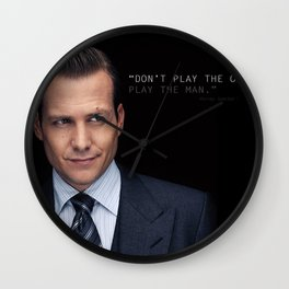 Harvey Specter - Play The Man Wall Clock