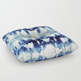 Tie Dye Blues Floor Pillow