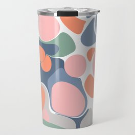 Abstract Shape Flower Art Travel Mug