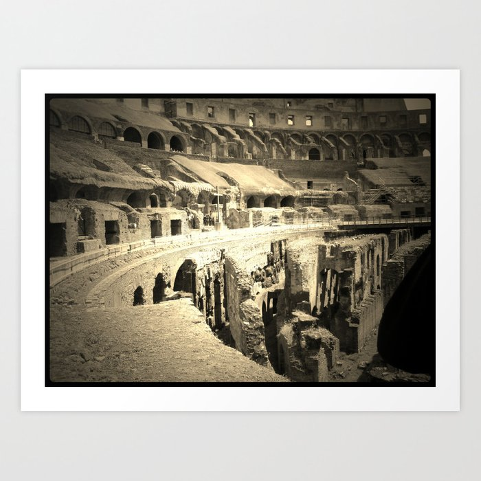 Inside View of the Colosseum in Rome, Italy  Art Print