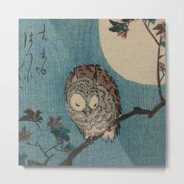 Vintage Japanese Owl Metal Print