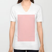 spanish V-neck T-shirts featuring Spanish pink by List of colors