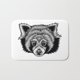 Red panda - ink illustration Bath Mat
