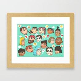 emoji talk Framed Art Print