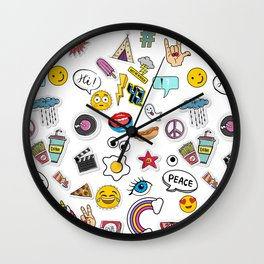 Patches my Love! Wall Clock