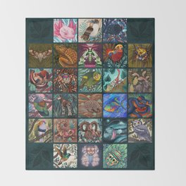 The Unusual Animal Alphabet Throw Blanket