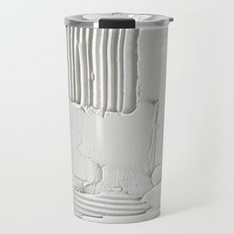 Relief [3]: an abstract, textured piece in white by Alyssa Hamilton Art  Travel Mug