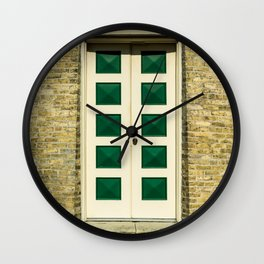Door to Southport Light Station Lighthouse Tower Lake Michigan Wall Clock