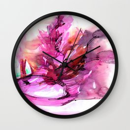 Organic Ecstasy No.55d by Kathy Morton Stanion Wall Clock