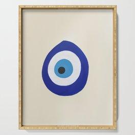 Blue Evil Eye Serving Tray
