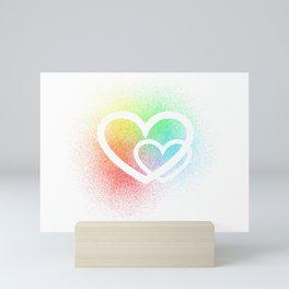Rainbow Hearts Mini Art Print
