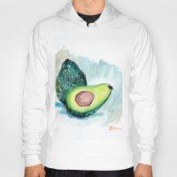 avocado Hoodies featuring Avocado by Elena Sandovici