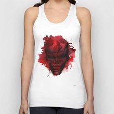 Red Skull Unisex Tank Top