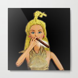 Cigar! Funny Cigar Smoking Pop Art! Metal Print