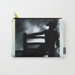 Cowboy In The Misty Night Carry-All Pouch