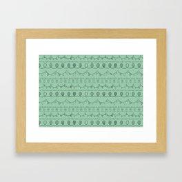 Green Loops Framed Art Print