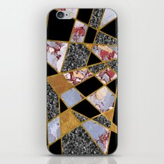 Abstract #486 Shards of Onyx, Marble & Gold iPhone & iPod Skin