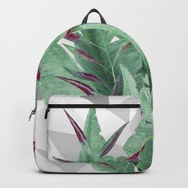 Tropical leaves. Backpack