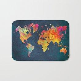 world map colors #map #maps #colors Bath Mat