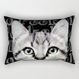 Peek A Boo, CAT, american shot hair Rectangular Pillow