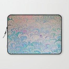 Peacock Water Marbling Laptop Sleeve