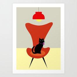 Cat on a sofa Art Print